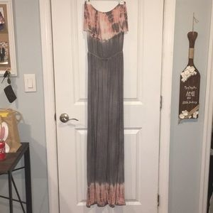 Dresses & Skirts - Gray and pink maxi dress